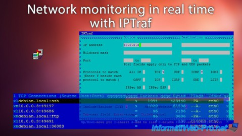 Network monitoring in real time with IPTraf