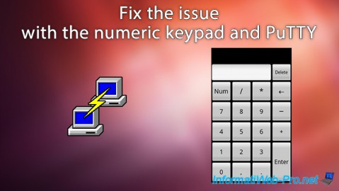 Fix the issue with the numeric keypad and PuTTY