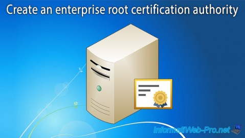WS 2012 / 2012 R2 - Create an enterprise root CA